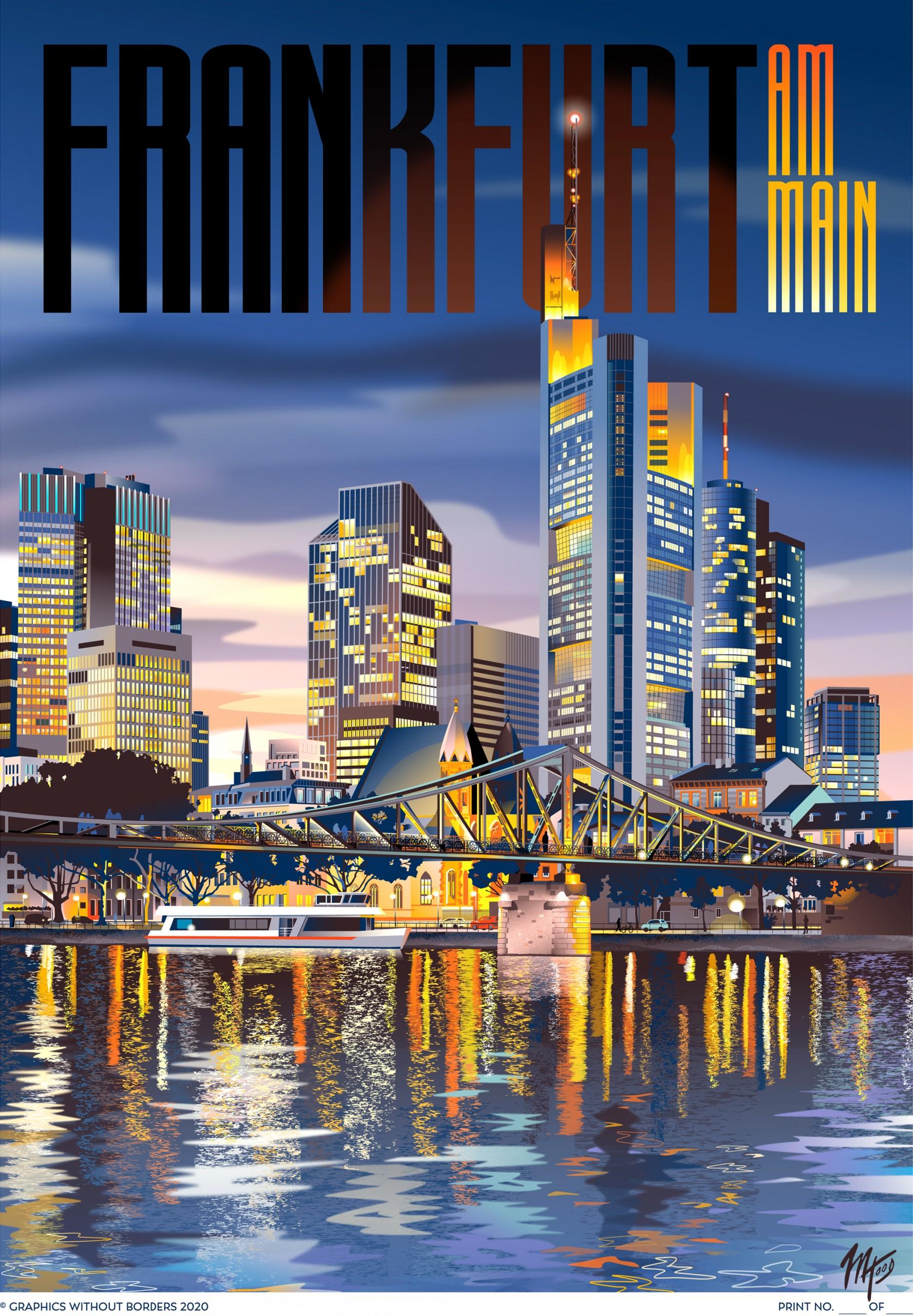 Frankfurt Travel Poster by Matt Hood