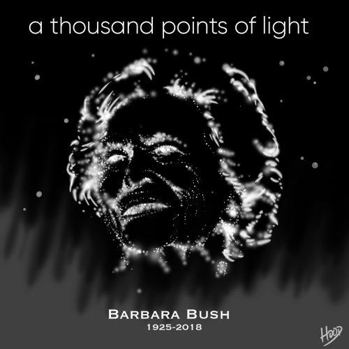 Obituary artwork for Barbara Bush