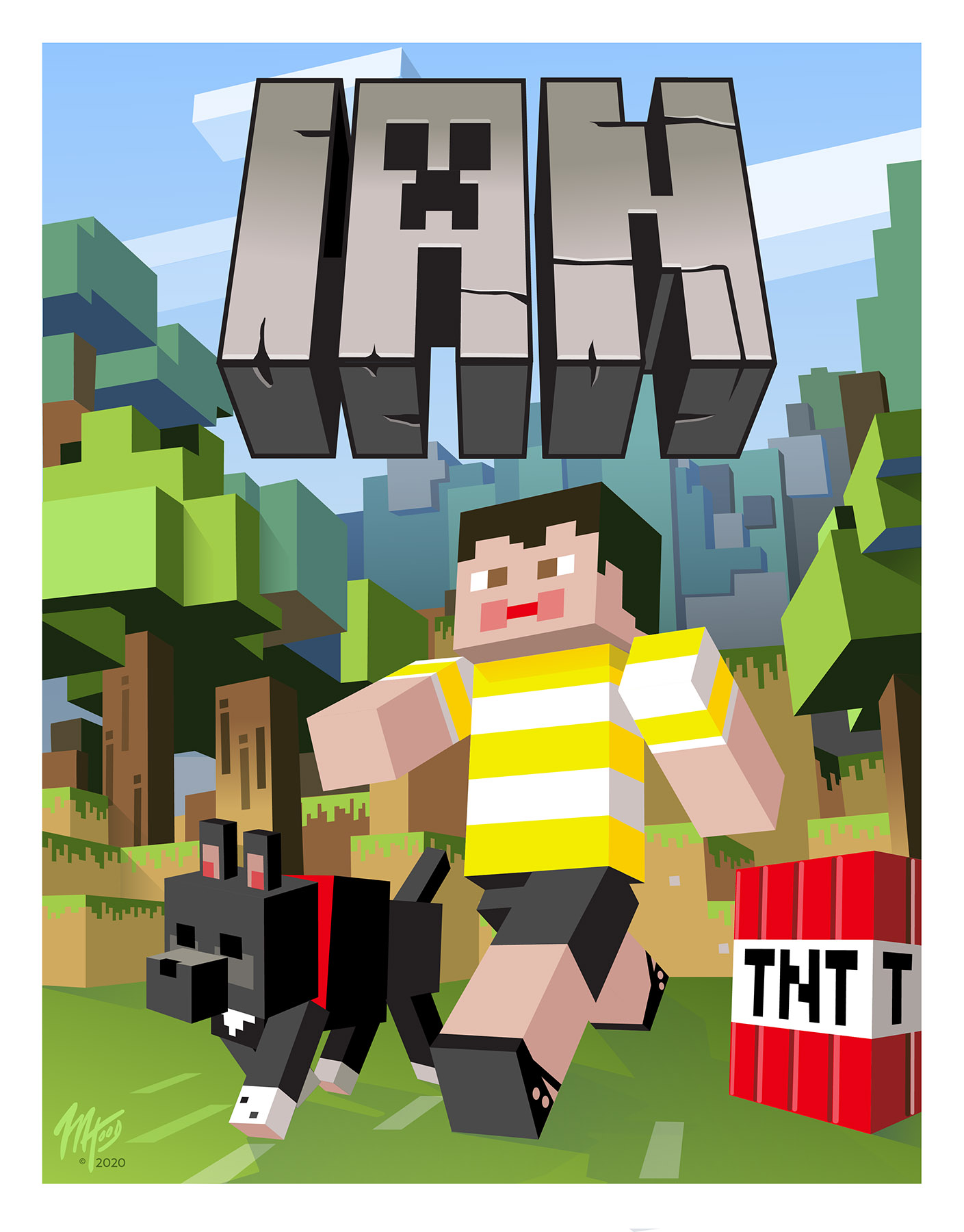 Minecraft-themed Poster