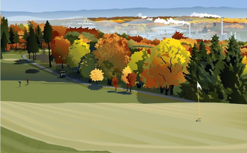 Rheinblick Golf Course Poster