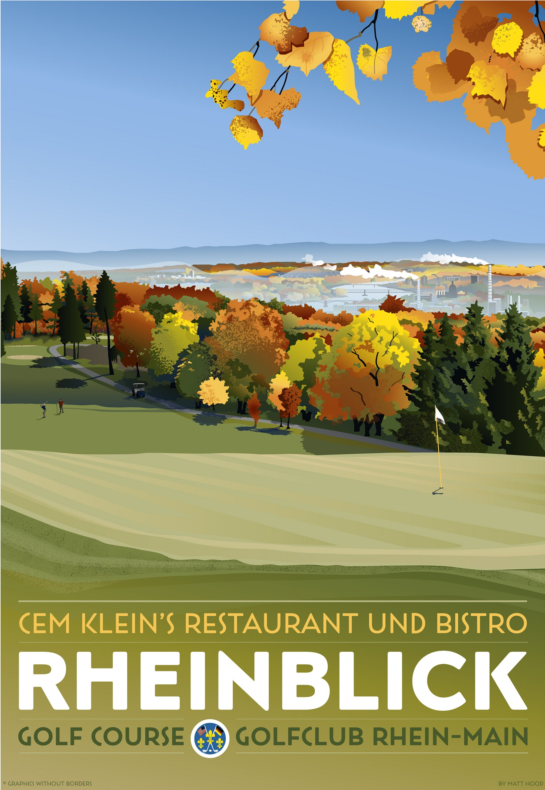 Rheinblick Golf Course Poster