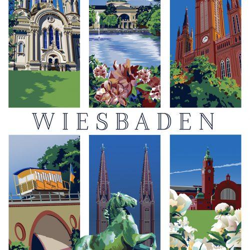 Wiesbaden Travel Poster by Matt Hood