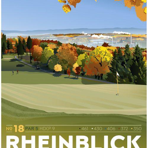 Rheinblick Golf Course - Hole 18